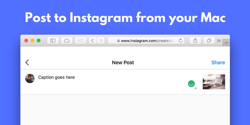 How to post to Instagram from mac
